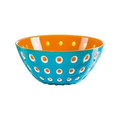 The Le Murrine bowl, designed by Pio&Tito Toso, acquires five new colour combinations to give you scope for free interpretation. Blue Bowl, Salad Bowls, Accent Decor, Decorative Bowls, Colour Combinations, Canning, Orange, Tableware