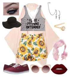 """Blondie is cool"" by puppylove-ag on Polyvore featuring Maje, Vans, Charlotte Russe, French Connection, Gioelli Designs, Topshop, WithChic and Lime Crime"