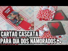 Cartão cascata para dia dos namorados! ♥ - YouTube