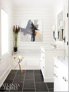 Image result for slate floor guest bath
