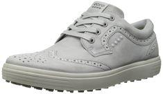 ECCO Men's Casual Hybrid Golf Shoe, Concrete, 44 EU/10-10.5 M US