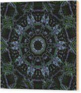 Green Mandala Wood Print by Jodi DiLiberto