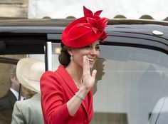 Kate Middleton Just Hopped Out of the Car in 1 Red-Hot Look