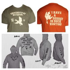 Duck Hunter HOODIE Sweatshirt sweater hooded Shoot Hunting Duck Dynasty Decoy