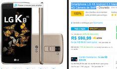 """Smartphone LG K8 Android 6.0 Tela 5"""" 16GB 4G Câmera de 8MP >"""