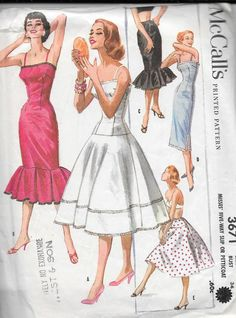 Vintage 1950s McCall's Sewing Pattern 3671 by SewAddicted2SewMuch