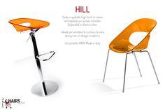 Hill: sedie e sgabelli hi-tech in arancione. Scorpili su http://www.chairsoutlet.com/ita/vendita-sedie/cerca.php?q=hill