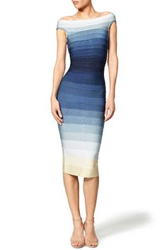 Blue Ardell Dress by Hervé Léger - I'm wearing this to my sister in law's wedding. I just need nude shoes to go with it.