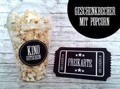 Geschenke für Männer - ★ Kinogutschein ★ Kinobecher ★ Einladung ins Kino - ein Designerstück von Kitsch-n-Story bei DaWanda