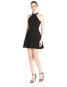 BCBGeneration Women's Fit-and-Flare Halter Dress -- Learn more by visiting the image link. (This is an affiliate link and I receive a commission for the sales)