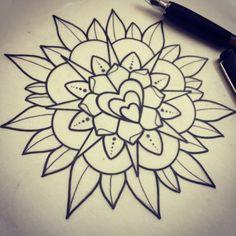 Mandala with heart