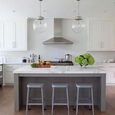 Arteriors Reeves Pendants, Transitional, kitchen, Milton Development