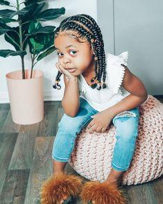 Kids Curly Hairstyles, Cute Little Girl Hairstyles, Little Girl Braids, Baby Girl Hairstyles, Black Girl Braids, Toddler Braids, Braids For Kids, Girls Braids, Kid Braids