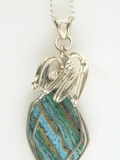 Wire Jewelry Free Patterns | ... Gemstone Pendant Wire Wrapped GEMP352 | GemsbyLes - Jewelry on ArtFire