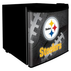 Boelter Brands Dorm Room Fridge ft Freestanding Mini Fridge Freezer Compartment (Black) at Lowe's. Take your dorm room, den, basement or bar to the next level with this Pittsburgh Steelers Dorm Room Fridge. Featuring bold Steelers graphics, this counter Bar Refrigerator, Mini Fridge, Man Cave Diy, Man Cave Home Bar, Steelers Football, Pittsburgh Steelers, Steelers Stuff, Steelers Season, Steelers Pics