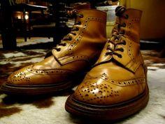 """Tricker's""""ACORN""""BrogueBoots Shoe Boots, Men's Boots, Men S Shoes, Totally Awesome, Awesome Stuff, Brogues, Leather Men, Combat Boots, Dress Shoes"""
