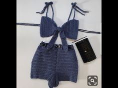 crochet - Chella Crochet Shorts Set - Apocalypse Now And Then Crochet Summer Tops, Crochet Crop Top, Crochet Clothes, Diy Clothes, Crochet Shorts Pattern, Crochet Shorts Outfit, Diy Fashion, Ideias Fashion, Bikini Crochet