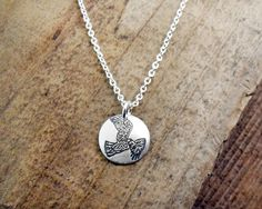 Red tail hawk necklace silver