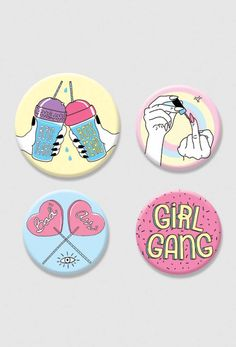 Kit de Buttons - Girl Gang ZI8806