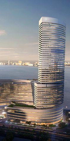 Eton Center Torre Norte, Xiamen, China. Diseñado por NBBJ Arquitectos. 51 plantas, 229 m de altura.