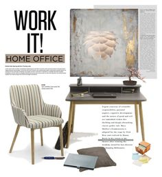 Home Office by viva-12 on Polyvore featuring polyvore, interior, interiors, interior design, home, home decor, interior decorating, Chronicle Books, Steiner Sports, home office, Home, homedecor, homeoffice and lagoon