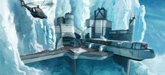 USSOC Antartic Facility - Chrono-Array (Finished) by ~PHATandy on deviantART