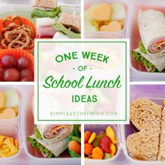 A weeks worth of simple, healthy school lunch ideas that go beyond the typical PB&J! I don't know about you, but I'm always on the lookout for quick + healthy school lunch ideas for my kids! Lunches that aren't to complicated to throw together in the morning rush. Lunches that are wholesome, affordable and that my kids will actually eat! Today I'm excited to share a weeks worth of school lunch ideas that are healthy + that your kids are sure to love! They've been tried...