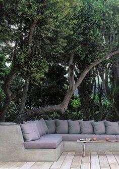 40 ιδέες για χτιστούς και μόνιμους καναπέδες για τον κήπο! | Φτιάξτο μόνος σου - Κατασκευές DIY - Do it yourself