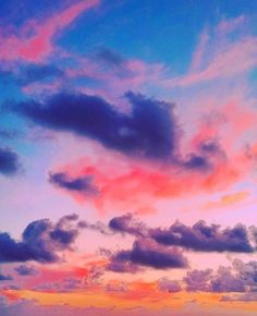 Candy colored skies