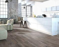 Zeil Vloer Houtlook : Woonkamer met vinyl vloer met houtlook reclaimed grey oak