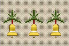 Christmas Bells Border free cross stitch pattern