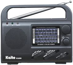Kaito solar powered radio - During any kind of disaster where electricity is interrupted, an emergency radio would be a good investment for keeping in contact with the outside world.  Solar/battery operated radios will work when your cell phone won't — not that they do the same thing, but most emergency radios also have cell phone chargers built in. A solar, battery operated, or wind-up radio will come in handy when you really need it.