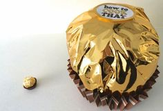 How to make a Giant Fererro Rocher! This would be great as an alternative to a Birthday Cake. Especially for Kyle.