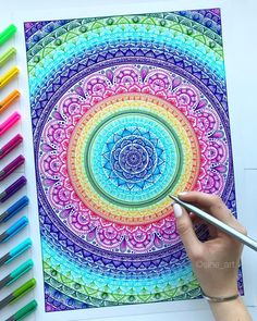 "6,946 Likes, 50 Comments - STAEDTLER (@staedtlermars) on Instagram: ""What a mandala! It's just incredible what @sine_art creates with our triplus fineliners! ❤️ Tag…"""