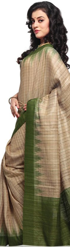 Odisha/ Orissa Handloom Ghicha silk Saree - original pin by @webjournal
