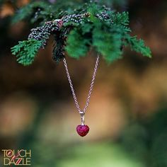 Girls crystal heart necklace #heart #heartjewelry #heartnecklace #childrensfashion #fashion #jewelry #dazzlegirls #atouchofdazzle