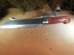 Custom Damascus Chef Knife With Red Mallee by EricsCustomKnives