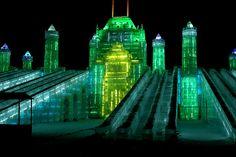 Ice city, Harbin, China. Just, wow. I really really really really want to go.