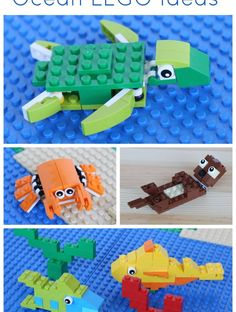 Ocean LEGO Projects to Build (Sea Turtle, Crab, Otter, and Fish!)