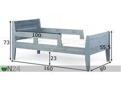 Детская кровать 75x150 cm берёза AW-65904