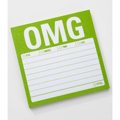 OMG Sticky Notes ($5) ❤ liked on Polyvore featuring home, home decor and stationery