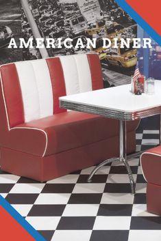 AMERICAN DINERBANK GASTRONOMIE SITZBANK 120cm USA STYLE WUNSCHFARBE NEU |  Joes Pizza | Pinterest