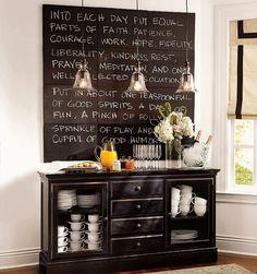 Школьная доска в интерьере кухни – стильный и полезный аксессуар