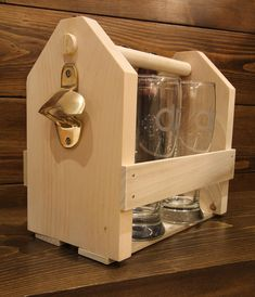 Creating the perfect handmade gift for the holidays, a beer carrier with custom beer glasses. #CDNHandmadeHoliday
