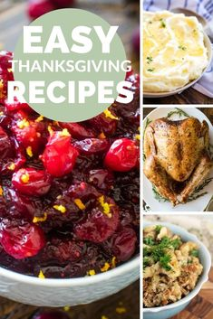 The perfect collection of traditional recipes for your Thanksgiving Menu this year. From main dishes Best Thanksgiving Recipes, Easy Holiday Recipes, Great Recipes, Favorite Recipes, Holiday Meals, Holiday Time, Traditional Thanksgiving Menu, Meals Kids Love, Seasonal Food