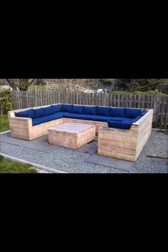 Outside pallet sectional but a gas fire pit in the middle would be better.