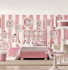Stylish Girls' Bedroom Ideas In Pink For The Contemporary Home --Super cute teenage girls' room in chic white and posh baby pink