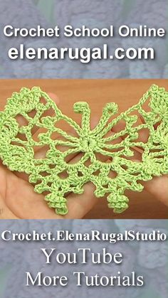 Crochet Butterfly Free Pattern, Crochet Flower Tutorial, Crochet Square Patterns, Crochet Instructions, Crochet Designs, Crochet Stitches Patterns, Free Doily Patterns, Kawaii Crochet, Crochet Art