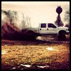 Lifted white ford truck