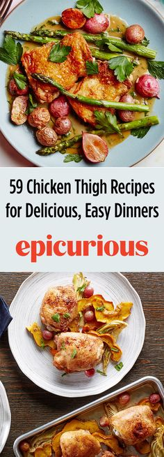 59 Chicken Thigh Recipes for Grilling, Frying, Roasting, Broiling, and Braising Chicken Thigh Recipes, Best Chicken Recipes, Chicken Meals, Sunday Recipes, Dinner Recipes, Dinner Ideas, Grilling Recipes, Cooking Recipes, Epicurious Recipes